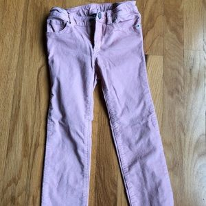 GAP skinny corduroy soft pink and sparkle